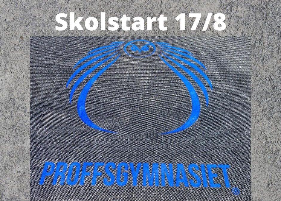 Skolstart måndag den 17/8-2020