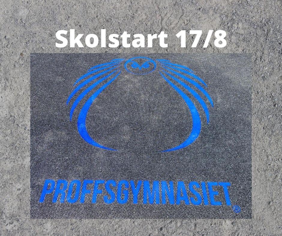 Skolstart 17-8-2020